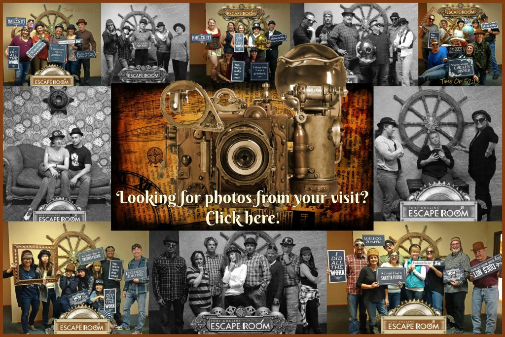 Escape the game Fort Collins escape room pictures