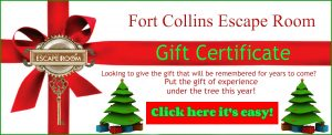 Fort Collins Escape Room gift
