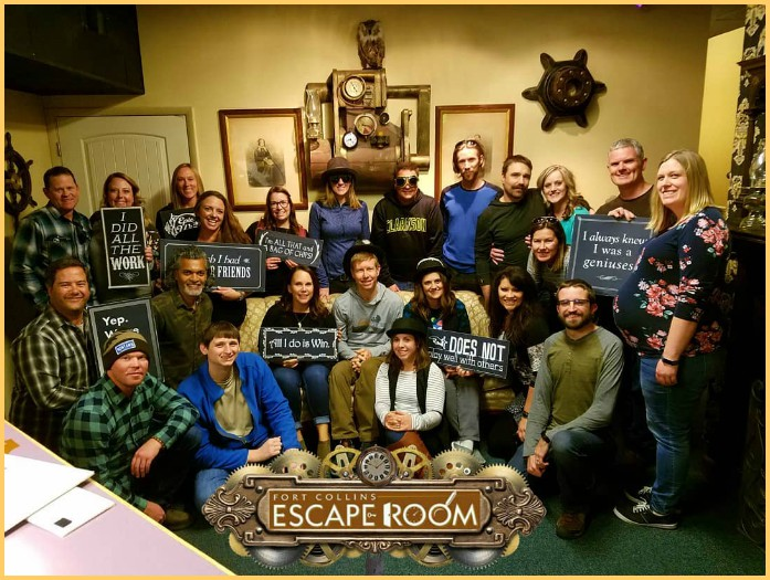 Escape room players Fort Collins Escape Room Colorado